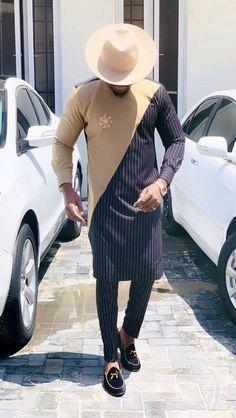 African men's clothing /shirt and pants/ wedding suit/dashiki / African men's shirt/ vêtement africain/ chemise et pantalon/ Ankara styles African Male Suits, African Wear Styles For Men, African Shirts For Men, African Dresses Men, African Attire For Men, African Clothing For Men, African Style, Nigerian Men Fashion, African Men Fashion