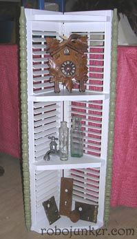 Old shutters turned into..... (lots of ideas for repurposing old shutters on this site)