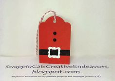 Welcome to Scrappin' Cat's Creative Endeavors: Christmas tags