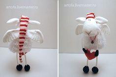 Мягкая игрушка овечка ангел / flying sheep > 4 legs