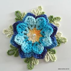 Transcendent Crochet a Solid Granny Square Ideas. Inconceivable Crochet a Solid Granny Square Ideas. Crochet Diy, Art Au Crochet, Crochet Puff Flower, Crochet Simple, Crochet Motifs, Crochet Flower Patterns, Crochet Squares, Crochet Designs, Crochet Flowers