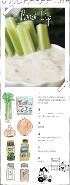 Tofu as an ingredient in a ranch dip?? I have to try this one.