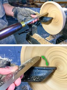 Wood bowl grain tear out on wood bowls can be controlled. Ways to address wood bowl grain tear out include tools, cut direction, lathe speed. Wood Turning Lathe, Wood Turning Projects, Wood Lathe, Router Wood, Cnc Router, Woodworking School, Learn Woodworking, Woodworking Store, Rockler Woodworking