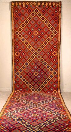 Sauj Bulaq dovetailed tapestry Kilim Early 20th C