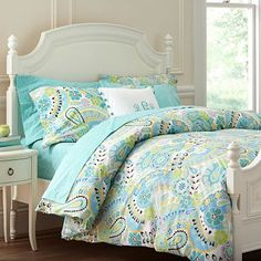 For Peanut's Big Girl Bed! I love the Paisley Pop Duvet Cover & Pillowcases on pbteen.com