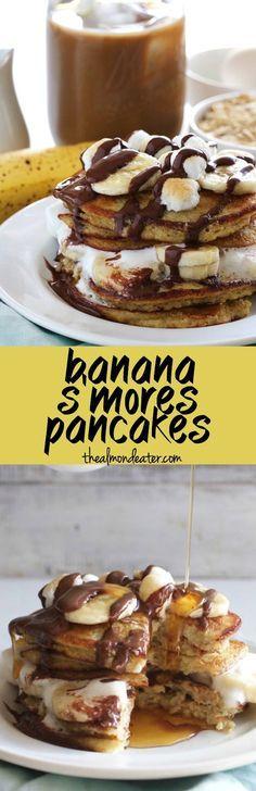 Banana S mores Pancakes