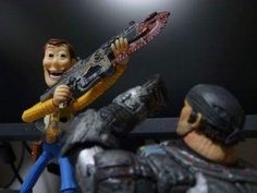One of those tearing up moments from Gears of War.