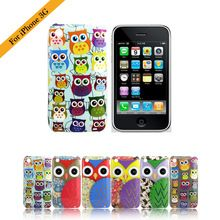 For iPhone3 Case Lovely Cartoon Multi Owl Skin Hard Back Cover Case for Apple iPhone 3 3G 1pc by China Post(China (Mainland))