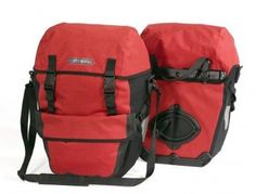 Ortlieb - Bikepacker Plus Pannier --I like the red color---helps drivers see you better---these go on the rear