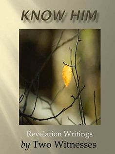 Know Him: Revelation Writings (Revealed Book 1) by Two Witnesses For those readers who are a fan of 'God Calling', this book will be a welcomed addition to your collection for revelation knowledge and spiritual truths that will inspire you to take bible study to a whole new level.