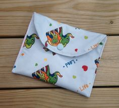 Elephant wet bag - small wet bag - pad wrapper - padwrap - wet bag for pads - wet bag for cloth pads by leonorafi on Etsy