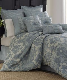 Take a look at this Blue Tropaz 10-Piece Comforter Set by Blanket America on #zulily today!
