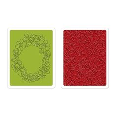 Sizzix Textured Impressions Embossing Folders 2PK - Wreath & Flowers Set €10,19