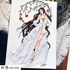 Dreaming in Haute Couture spring 2018 Mood of the day! Inspired by Dress Design Sketches, Fashion Design Sketchbook, Fashion Design Drawings, Fashion Sketches, Fashion Design Illustrations, Fashion Drawing Dresses, Fashion Illustration Dresses, Fashion Moda, Fashion Art