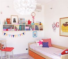 Personalise wall cabinets with patterned paper backing | Creative kid's room, Italy