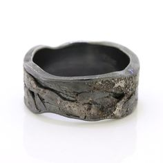 Todd Reed Palladium & Silver Men's Band Unique Mens Wedding Band – Bijoux Design, Schmuck Design, Unique Mens Rings, Rings For Men, Key Jewelry, Estilo Fashion, Wedding Men, Unique Mens Wedding Bands, Camo Wedding