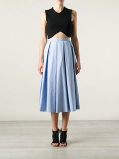 DSQUARED2 - pleated midi skirt