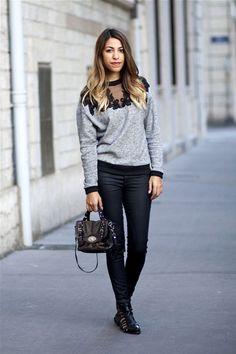 LACE+SWEATSHIRT+|+Women's+Look+|+ASOS+Fashion+Finder