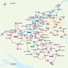Übersichtskarte des Oberschwäbischen Pilgerweges: Inzwischen ist der Wanderweg...