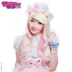 RockStar Wigs® <br> Downtown Girl™ Collection - Platinum Blonde Mix & Pink