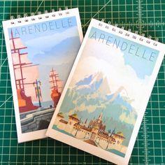 Merryweather's Cottage: DIY Disney's Frozen Arendelle Notebooks