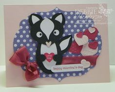 Stampin' Up! Punch Art Skunk by Debbie Henderson. Debbie's Designs. Inspiration from Dannie Hoang.