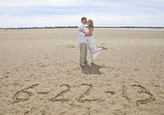 Small wedding on the beach in Oregon. Love this shot in the sand! Photo courtesy http://www.tvkpix.com. #elopement