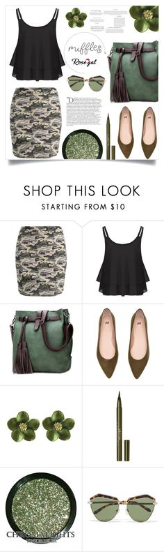 """Rosegal ruffled top III/38"" by samra-bv ❤ liked on Polyvore featuring Stila, Karen Walker, Balmain, polyvorefashion, rosegal and ruffledtops"