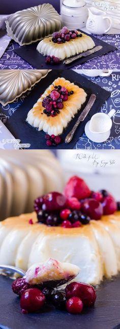 Delicioso flan de Mascarpone / https://blog.icake4u.com/