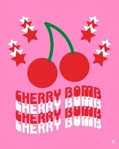 Cherry Bomb Giclee Print, Pop Art, Fruit Art, Cherry Print, Pink and Red - Source by - Trendy Wallpaper, Print Wallpaper, Cute Wallpapers, Pop Design, Design Lab, Sketch Design, Design Concepts, Cherry Quotes, Cherry Baby