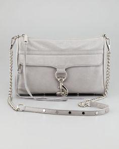 MAC Clutch Bag, Soft Gray by Rebecca Minkoff at Neiman Marcus.