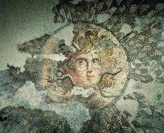 Roman Mosaic. Medusa. Devnya (Marcianopolis) Bulgaria.