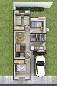 Most Popular Simple Narrow House Plans Ideas 3d House Plans, Narrow House Plans, Indian House Plans, Small House Floor Plans, Duplex House Plans, Dream House Plans, Modern House Plans, House Floor Design, Bungalow House Design