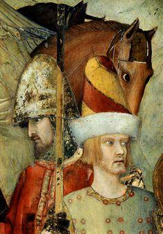 ❤ - SIMONE MARTINI (1285 -1344) - Saint Martin Renounces His Weapons,detail -1312/17. Fresco, 265 x 230 cm. Cappella di San Martino, Lower Church, San Francesco, Assisi.
