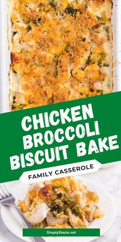 Chicken Broccoli Biscuit Bake - The ultimate comfort food! Country biscuits baked in a creamy sauce and topped with broccoli, garlic, onions and melted cheese. SO GOOD! Casserole Dishes, Casserole Recipes, Soup Recipes, Chicken Broccoli, Yummy Appetizers, My Favorite Food, Easy Dinner Recipes, Baking Recipes, Country Biscuits