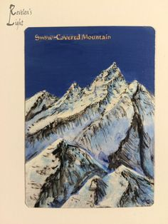Snow-Covered Mountain - MTG Alter - Revelen's Light Altered Art Magic Card