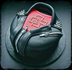 Rammstein t shirt and leather jacket cake