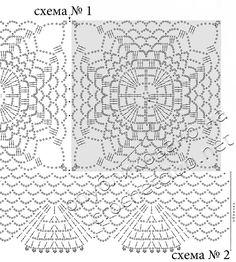 Туника из ажурных квадратов - Вязание Крючком. Блог Настика. Схемы, узоры, уроки бесплатно