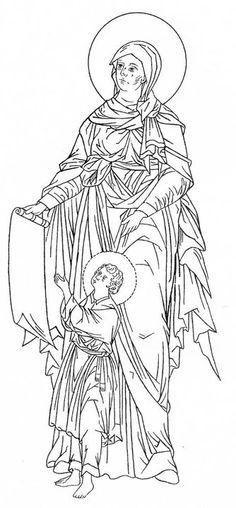 Markelov Russian Orthodox Icon  Julita en Kirik (?)