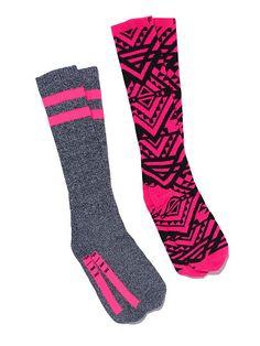 Knee Socks Set PINK LN-325-768 (Q14)