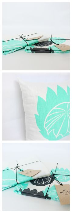 @noteworthy_girl   The Mini Protea Scatter Cushion // designed in South Africa, hand-printed by a family run studio and sewn by a group of ladies from a local township. Ethically made home decor for modern homes that enjoy a pop of aqua or mint cushion covers. Aqua Color Palette, Handmade Clutch, Scatter Cushions, Modern Homes, Cushion Covers, South Africa, Bed Pillows, Cushion Ideas, Mint