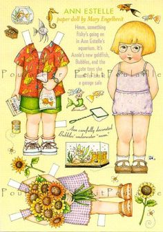 Image detail for -Mary Engelbreit Home Companion Original Paper Doll Sheet Featuring Ann ...
