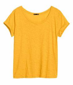 Top in slub jersey - from H&M on Wanelo