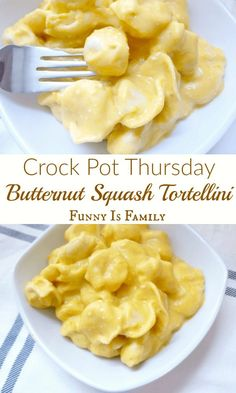 4 Points About Vintage And Standard Elizabethan Cooking Recipes! You Will Not Believe How Creamy And Delicious This Crockpot Butternut Squash Tortellini Recipe Tastes Via Funnyisfamily Best Crockpot Recipes, Slow Cooker Recipes, Cooking Recipes, Crockpot Meals, Freezer Meals, Crockpot Dishes, Slow Cooking, Dump Dinners, Yummy Recipes