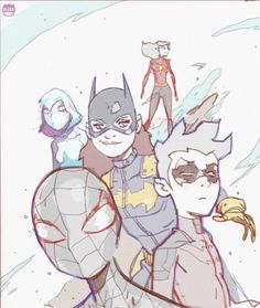 Ultimate Spider-Man, Robin, All New Batgirl, Spider-Gwen, and Spider-Woman by Coran Kizer Stone *