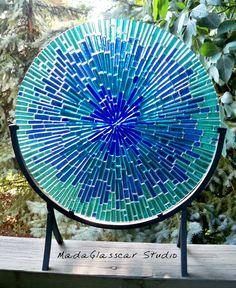 Water Burst Tabletop Suncatcher Disk. $200.00, via Etsy.