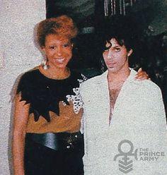 Prince with his half sister Sharon