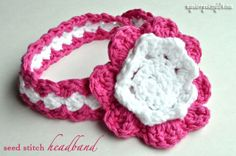 free pattern & photo tutorial for an adorable headband for a baby girl! size can be adjusted for any size head as well