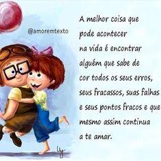 A melhor coisa da vida!  #amor #love #amar #casamento Always Love You, All You Need Is, Peace Love And Understanding, Peace And Love, My Love, Beautiful Words, Flirting, Poems, Romance