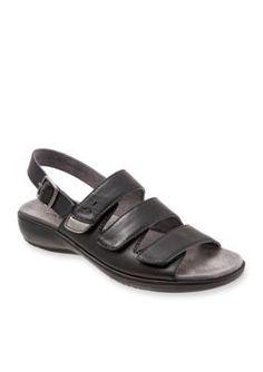 Trotters Black Kendra Sandal